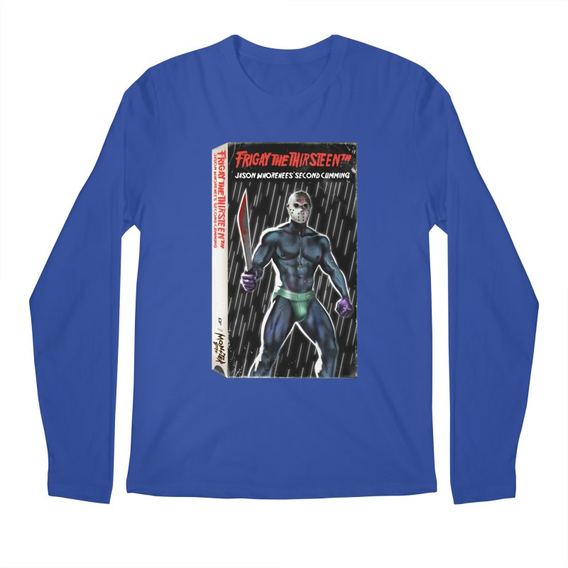 FRIGAY THE THIRSTEENTH VHS COVER Men's Regular Longsleeve T-Shirt by Stephen Draws's Artist Shop