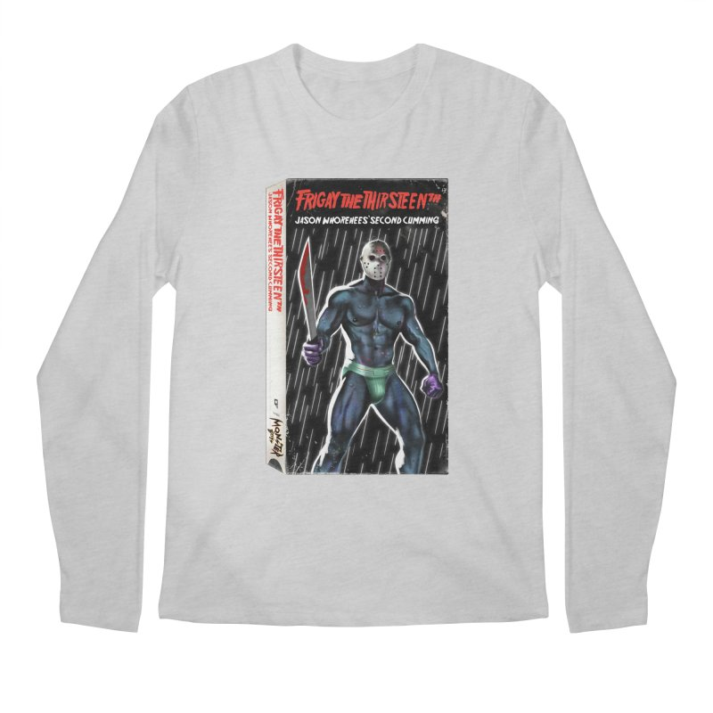 FRIGAY THE THIRSTEENTH VHS COVER Men's Regular Longsleeve T-Shirt by Stephen Draws's Artist Shop