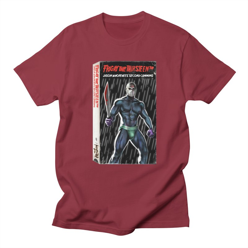 FRIGAY THE THIRSTEENTH VHS COVER Men's Regular T-Shirt by Stephen Draws's Artist Shop