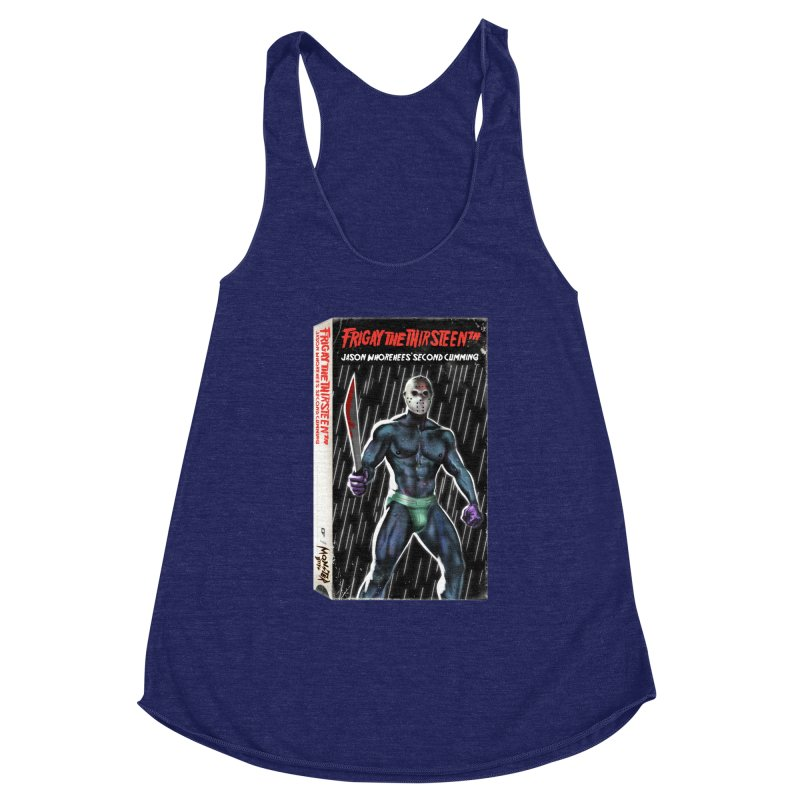 FRIGAY THE THIRSTEENTH VHS COVER Women's Racerback Triblend Tank by Stephen Draws's Artist Shop