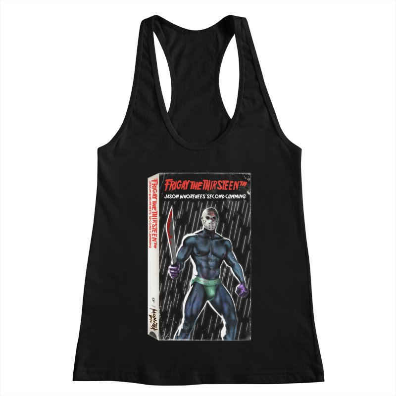 FRIGAY THE THIRSTEENTH VHS COVER Women's Racerback Tank by Stephen Draws's Artist Shop