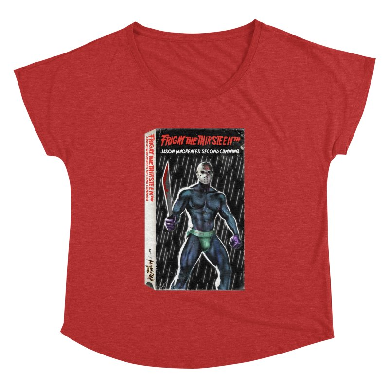 FRIGAY THE THIRSTEENTH VHS COVER Women's Dolman Scoop Neck by Stephen Draws's Artist Shop