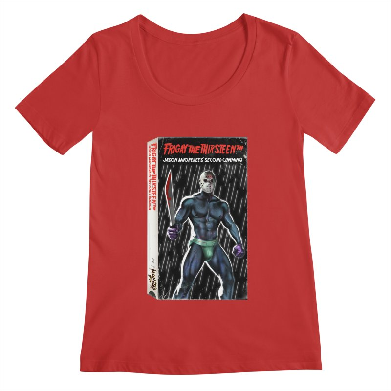 FRIGAY THE THIRSTEENTH VHS COVER Women's Regular Scoop Neck by Stephen Draws's Artist Shop