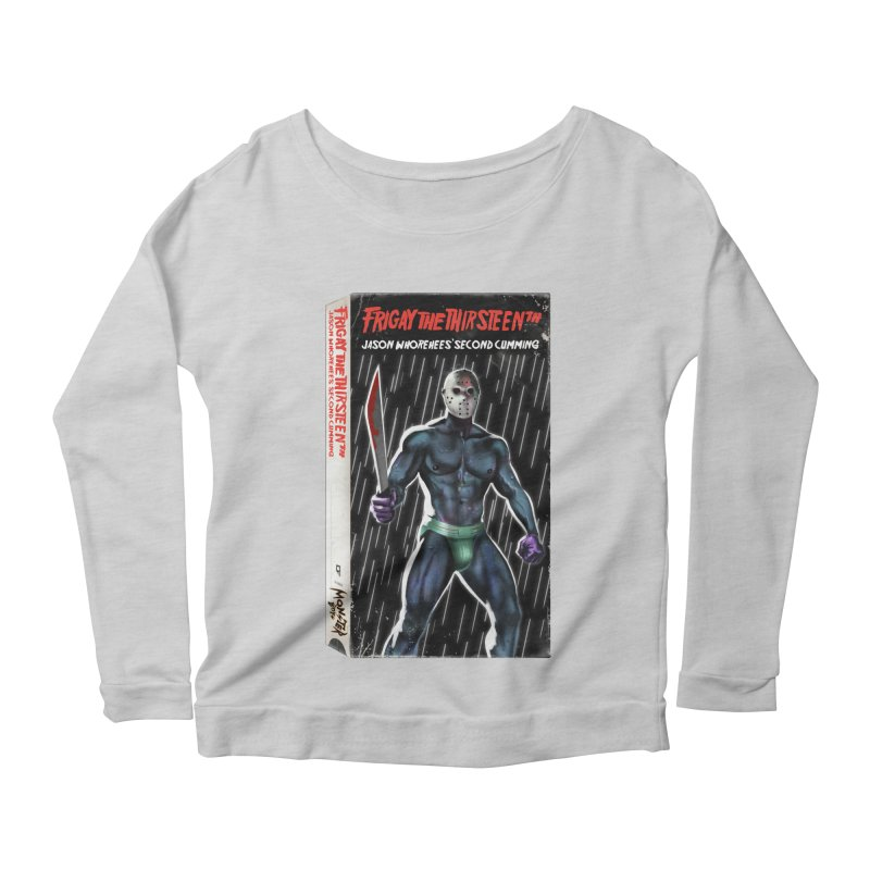 FRIGAY THE THIRSTEENTH VHS COVER Women's Scoop Neck Longsleeve T-Shirt by Stephen Draws's Artist Shop