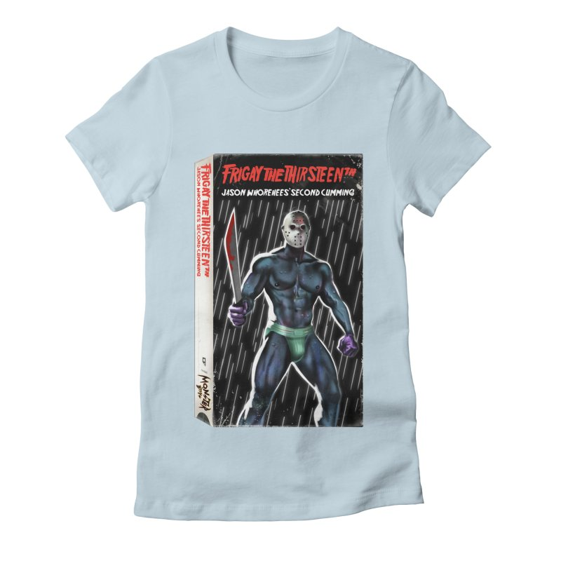 FRIGAY THE THIRSTEENTH VHS COVER Women's Fitted T-Shirt by Stephen Draws's Artist Shop