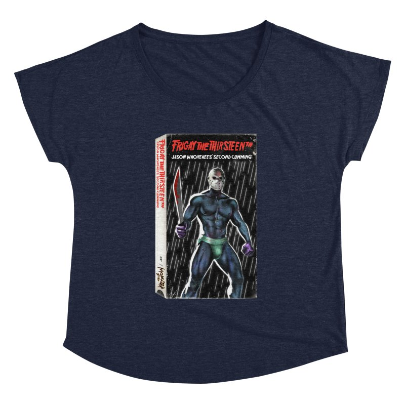 FRIGAY THE THIRSTEENTH VHS COVER Women's Scoop Neck by Stephen Draws's Artist Shop