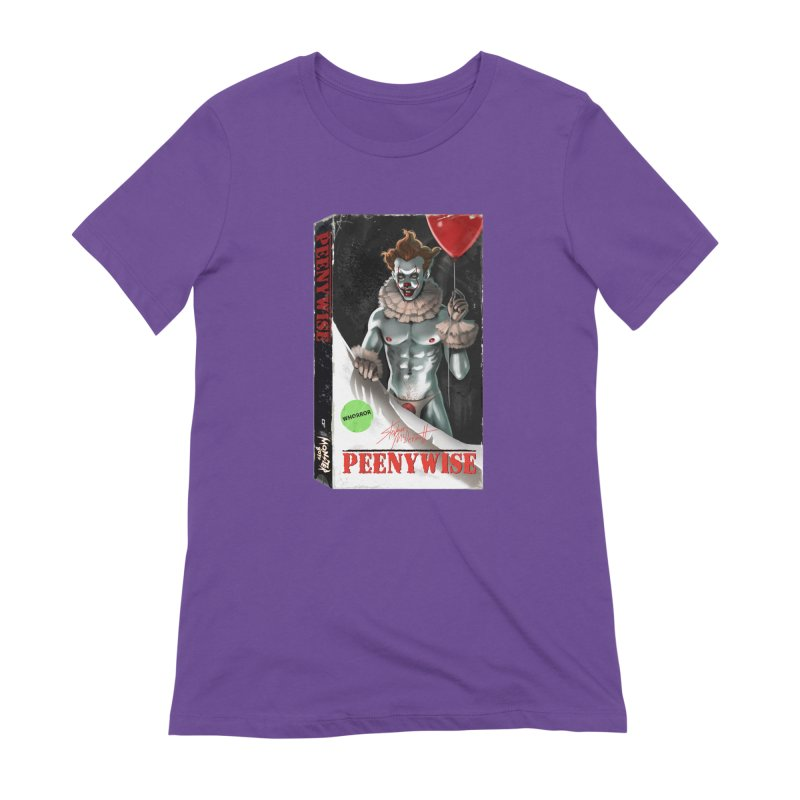 PEENYWISE VHS COVER Women's Extra Soft T-Shirt by Stephen Draws's Artist Shop