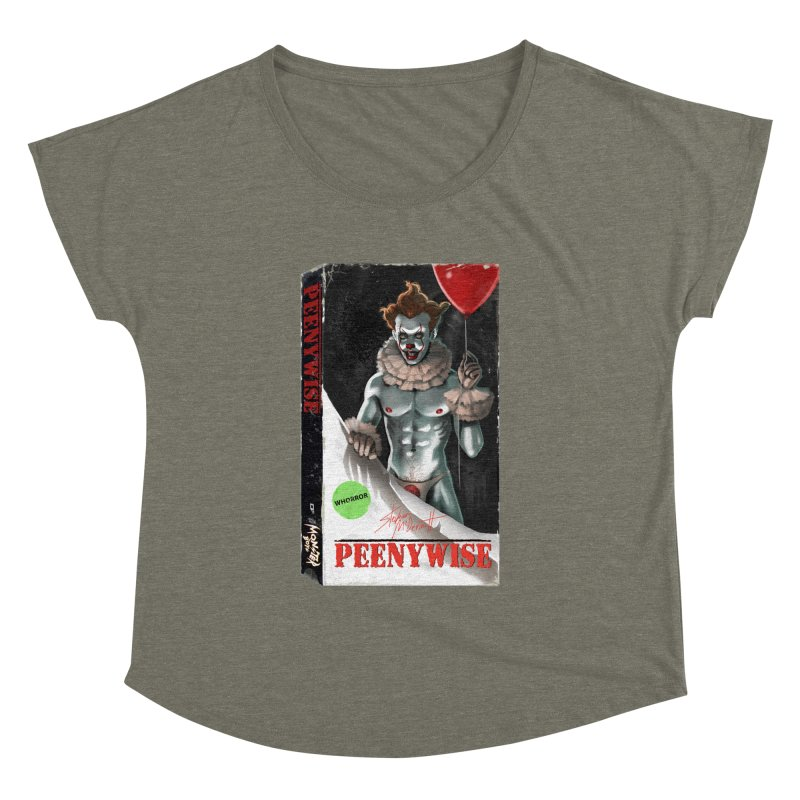PEENYWISE VHS COVER Women's Dolman Scoop Neck by Stephen Draws's Artist Shop