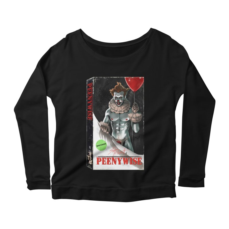 PEENYWISE VHS COVER Women's Scoop Neck Longsleeve T-Shirt by Stephen Draws's Artist Shop