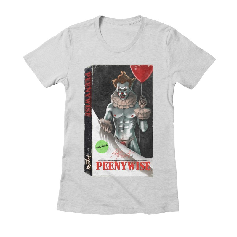 PEENYWISE VHS COVER Women's Fitted T-Shirt by Stephen Draws's Artist Shop