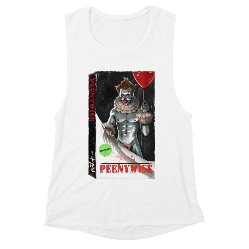 PEENYWISE VHS COVER Women's Muscle Tank by Stephen Draws's Artist Shop