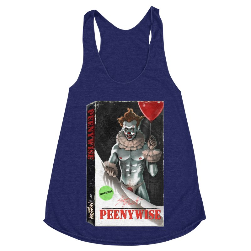 PEENYWISE VHS COVER Women's Racerback Triblend Tank by Stephen Draws's Artist Shop