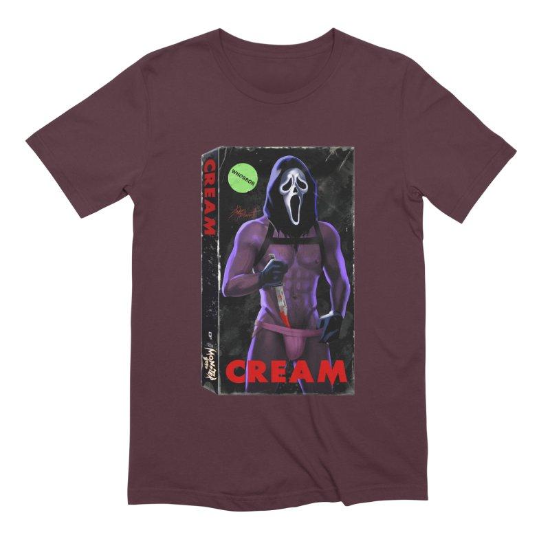 CREAM VHS COVER Men's Extra Soft T-Shirt by Stephen Draws's Artist Shop