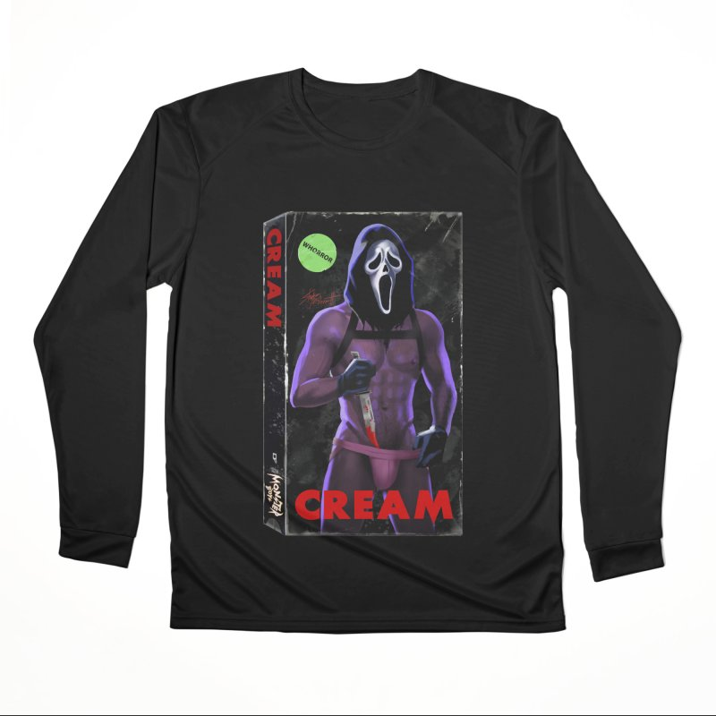 CREAM VHS COVER Women's Performance Unisex Longsleeve T-Shirt by Stephen Draws's Artist Shop