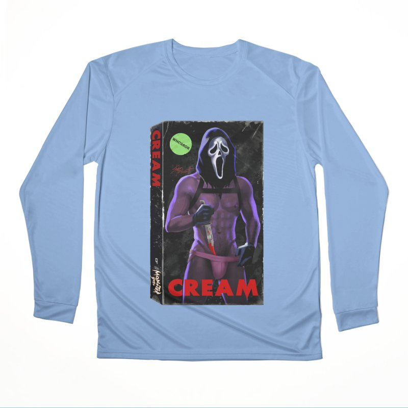 CREAM VHS COVER Women's Longsleeve T-Shirt by Stephen Draws's Artist Shop