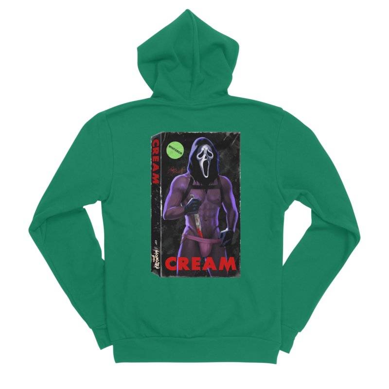 CREAM VHS COVER Men's Sponge Fleece Zip-Up Hoody by Stephen Draws's Artist Shop