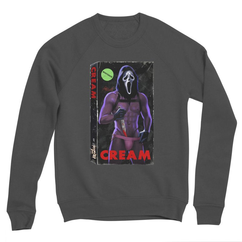 CREAM VHS COVER Men's Sponge Fleece Sweatshirt by Stephen Draws's Artist Shop