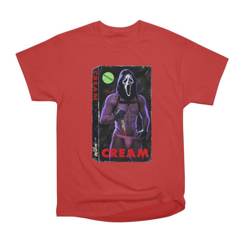CREAM VHS COVER Men's Heavyweight T-Shirt by Stephen Draws's Artist Shop