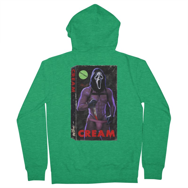 CREAM VHS COVER Women's Zip-Up Hoody by Stephen Draws's Artist Shop
