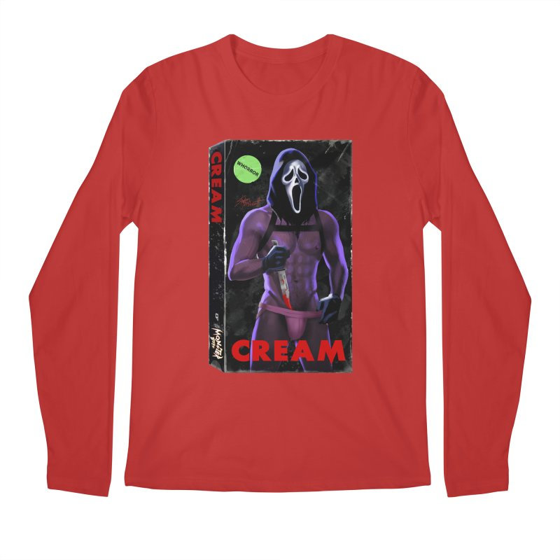 CREAM VHS COVER Men's Regular Longsleeve T-Shirt by Stephen Draws's Artist Shop