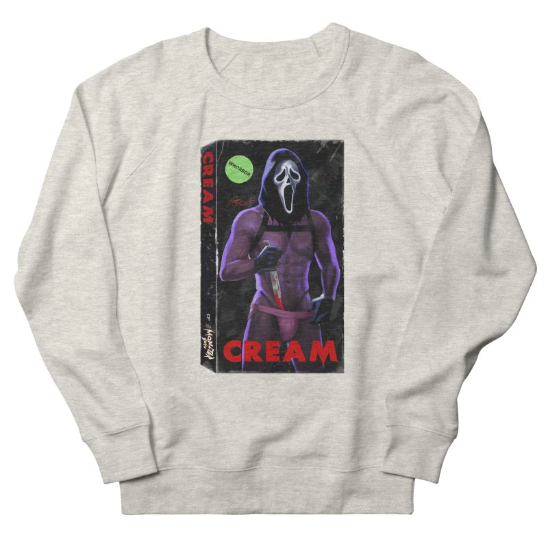 CREAM VHS COVER Women's French Terry Sweatshirt by Stephen Draws's Artist Shop