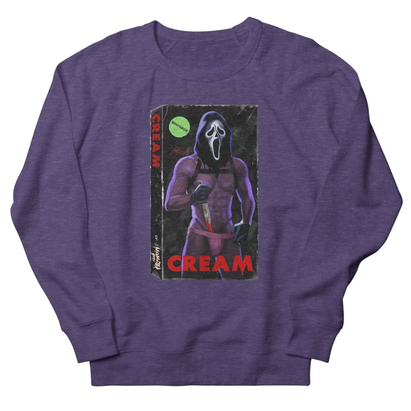 CREAM VHS COVER Men's French Terry Sweatshirt by Stephen Draws's Artist Shop