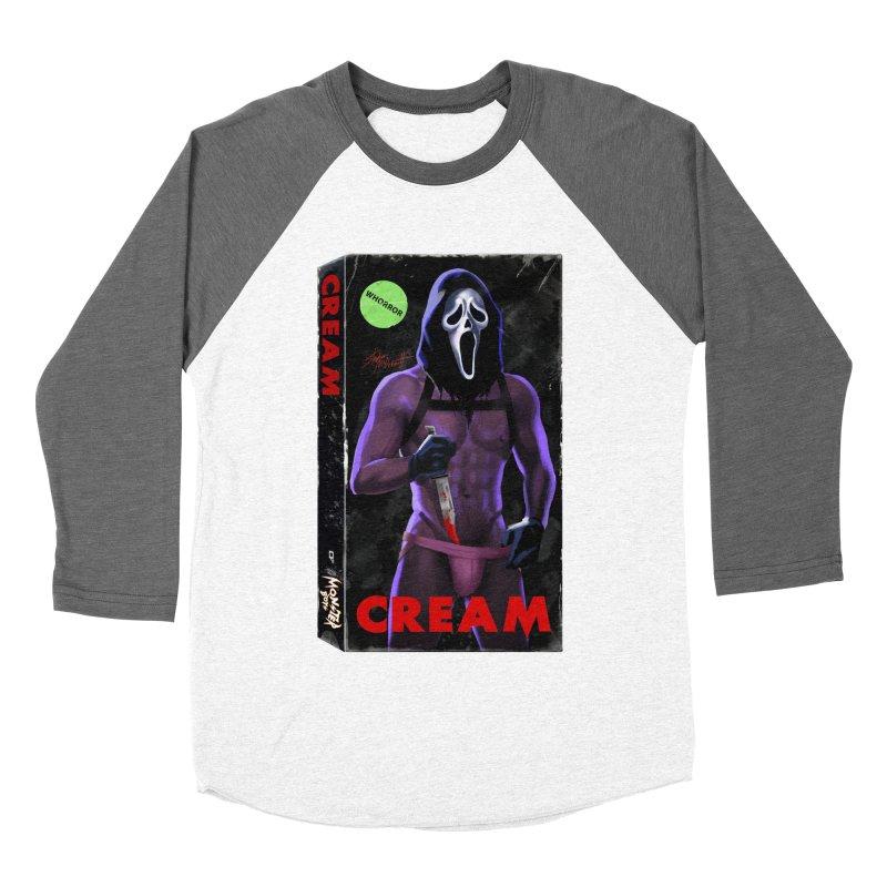 CREAM VHS COVER Women's Baseball Triblend Longsleeve T-Shirt by Stephen Draws's Artist Shop