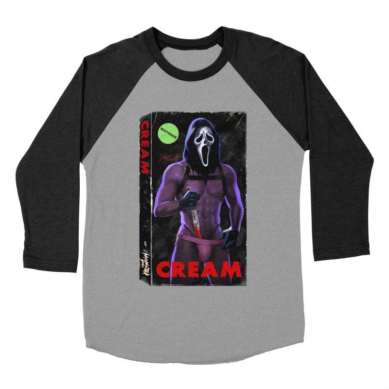 CREAM VHS COVER Men's Baseball Triblend Longsleeve T-Shirt by Stephen Draws's Artist Shop