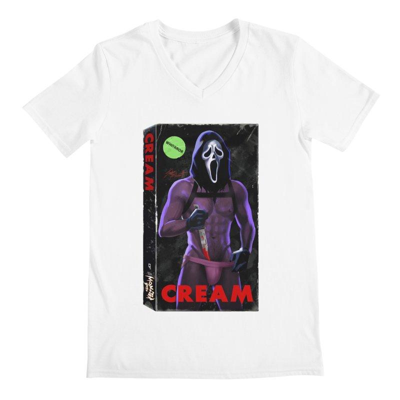 CREAM VHS COVER Men's Regular V-Neck by Stephen Draws's Artist Shop