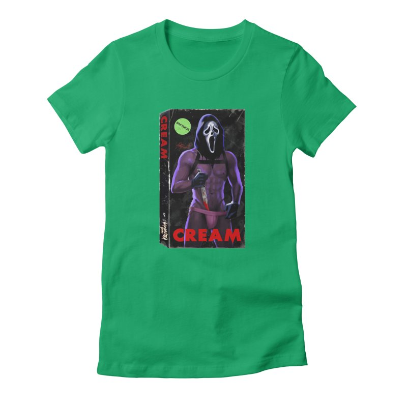 CREAM VHS COVER Women's T-Shirt by Stephen Draws's Artist Shop
