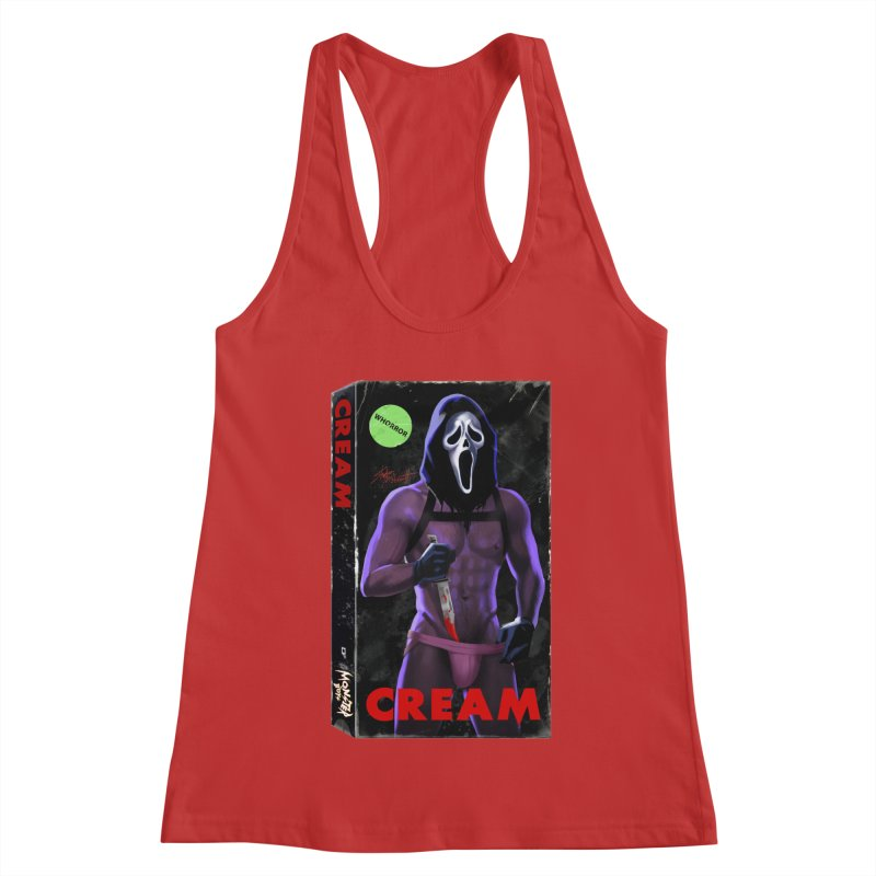 CREAM VHS COVER Women's Racerback Tank by Stephen Draws's Artist Shop