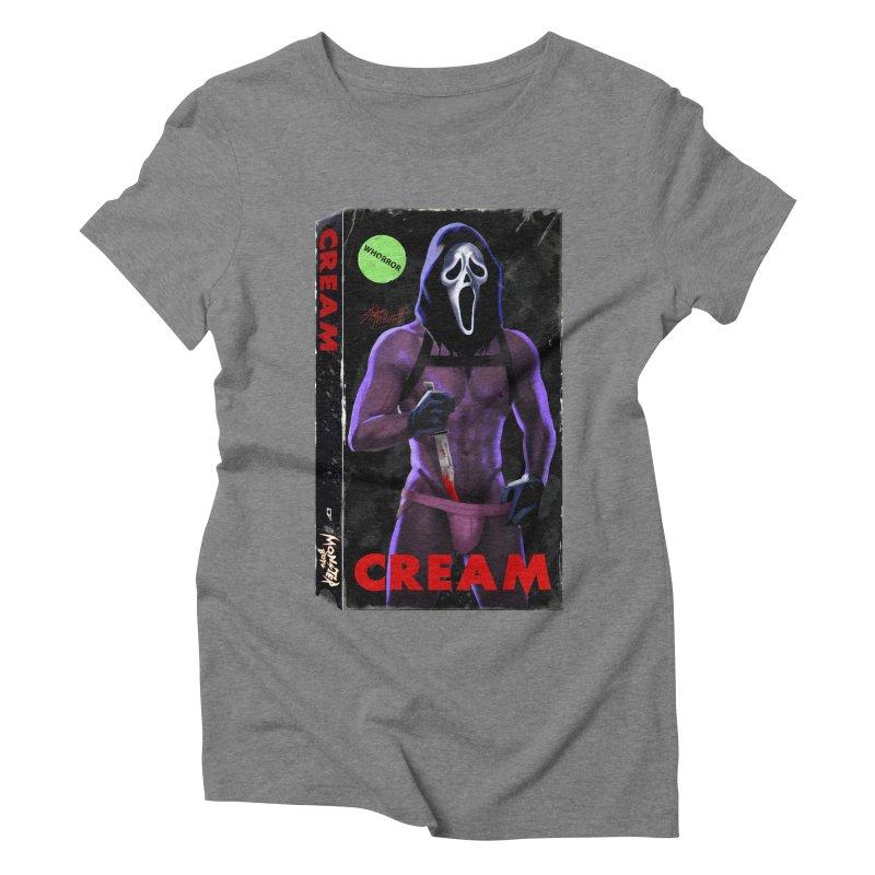 CREAM VHS COVER Women's Triblend T-Shirt by Stephen Draws's Artist Shop