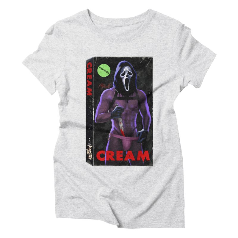 CREAM VHS COVER Women's Triblend T-Shirt by Stephen Draws's Artist Shop