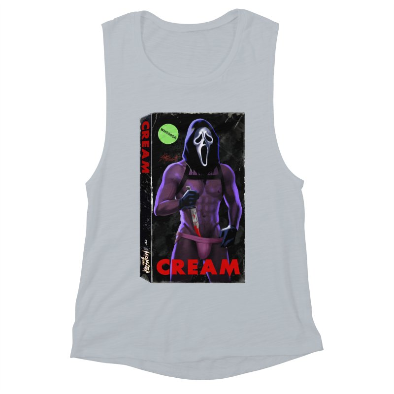 CREAM VHS COVER Women's Muscle Tank by Stephen Draws's Artist Shop