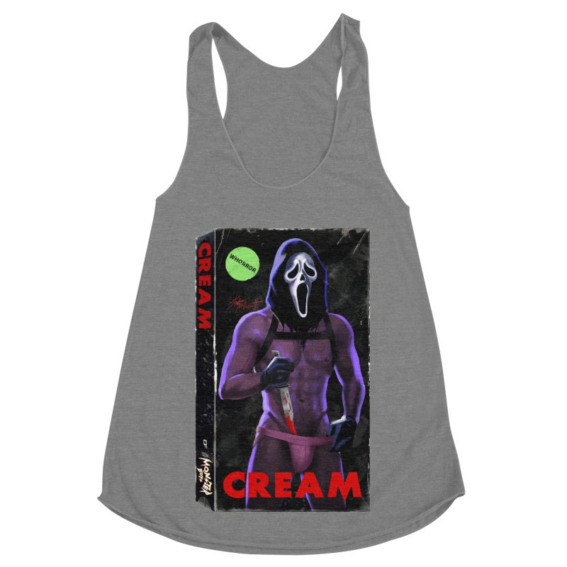 CREAM VHS COVER Women's Racerback Triblend Tank by Stephen Draws's Artist Shop