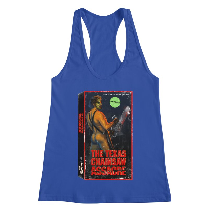 THE TEXAS CHAINSAW ASSACRE Women's Racerback Tank by Stephen Draws's Artist Shop