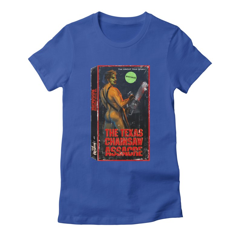 THE TEXAS CHAINSAW ASSACRE Women's Fitted T-Shirt by Stephen Draws's Artist Shop