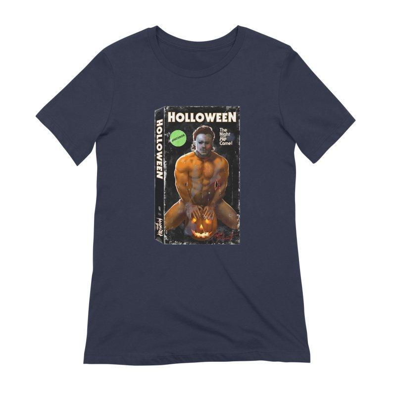 HOLLOWEEN VHS COVER Women's Extra Soft T-Shirt by Stephen Draws's Artist Shop