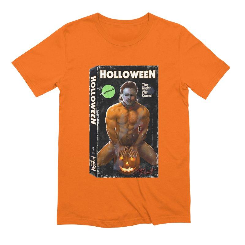 HOLLOWEEN VHS COVER Men's Extra Soft T-Shirt by Stephen Draws's Artist Shop