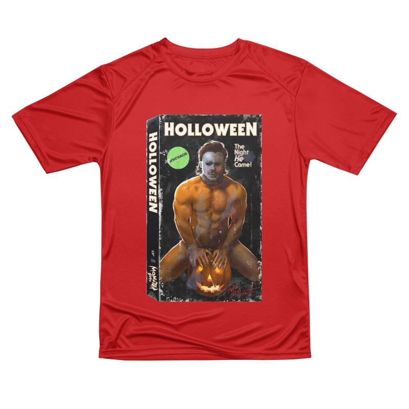 HOLLOWEEN VHS COVER Women's Performance Unisex T-Shirt by Stephen Draws's Artist Shop