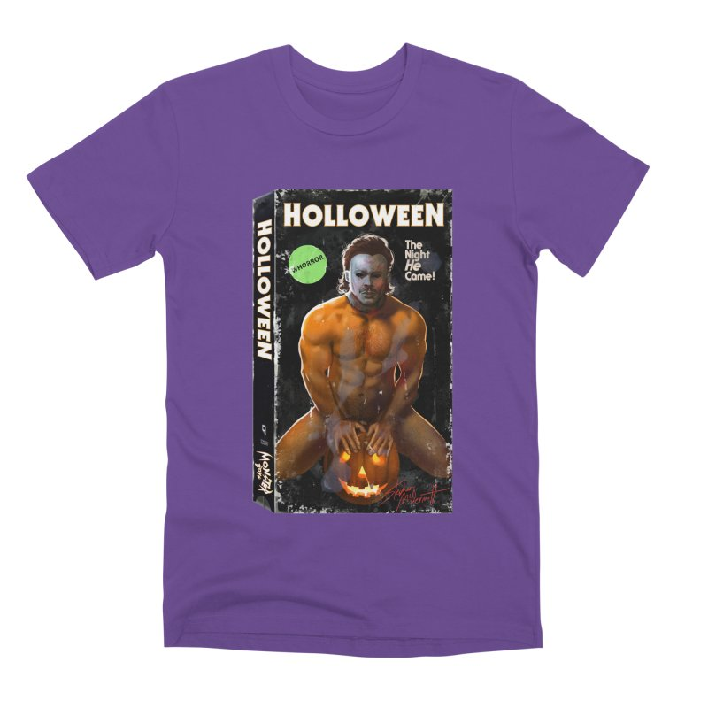 HOLLOWEEN VHS COVER Men's Premium T-Shirt by Stephen Draws's Artist Shop