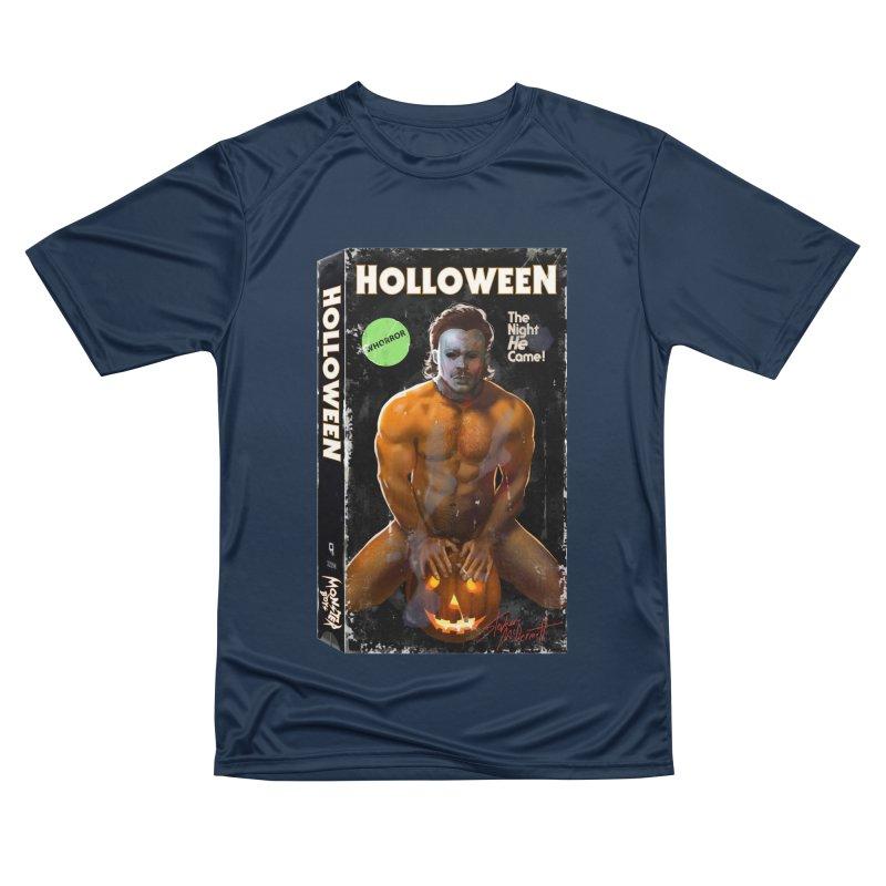 HOLLOWEEN VHS COVER Men's Performance T-Shirt by Stephen Draws's Artist Shop