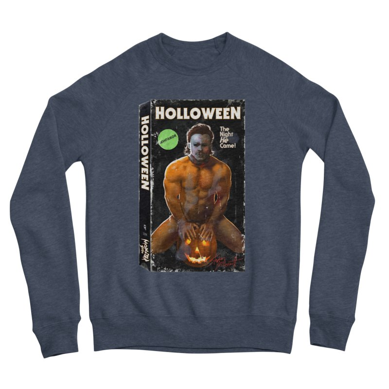 HOLLOWEEN VHS COVER Men's Sponge Fleece Sweatshirt by Stephen Draws's Artist Shop