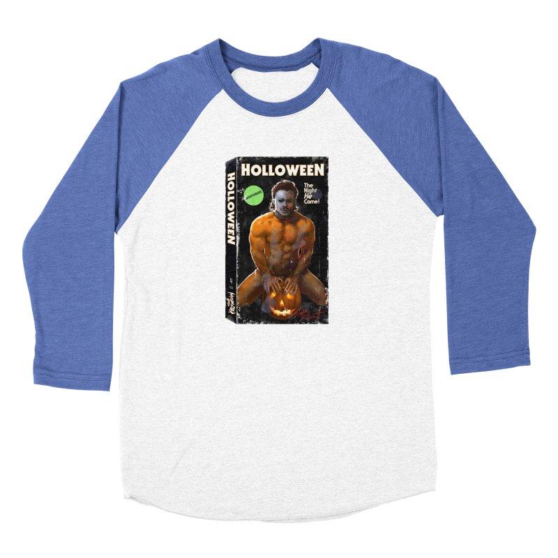 HOLLOWEEN VHS COVER Women's Baseball Triblend Longsleeve T-Shirt by Stephen Draws's Artist Shop