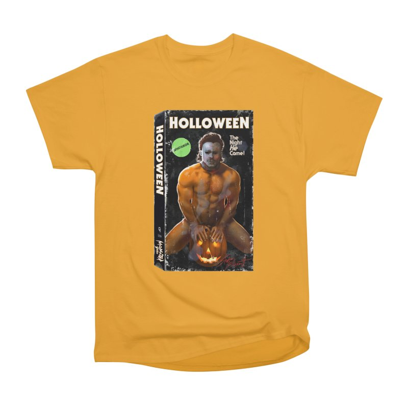 HOLLOWEEN VHS COVER Women's Heavyweight Unisex T-Shirt by Stephen Draws's Artist Shop