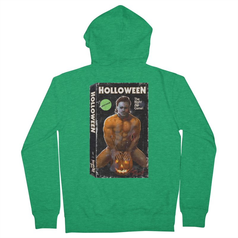 HOLLOWEEN VHS COVER Women's French Terry Zip-Up Hoody by Stephen Draws's Artist Shop