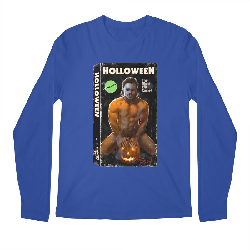 HOLLOWEEN VHS COVER Men's Regular Longsleeve T-Shirt by Stephen Draws's Artist Shop