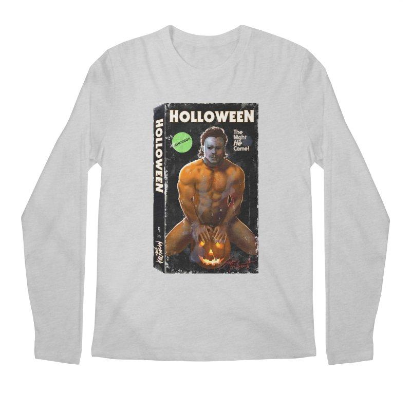 HOLLOWEEN VHS COVER Men's Regular Longsleeve T-Shirt by Stephen Draws's Artist Shop