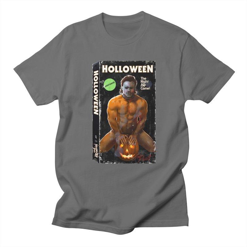 HOLLOWEEN VHS COVER Men's Regular T-Shirt by Stephen Draws's Artist Shop