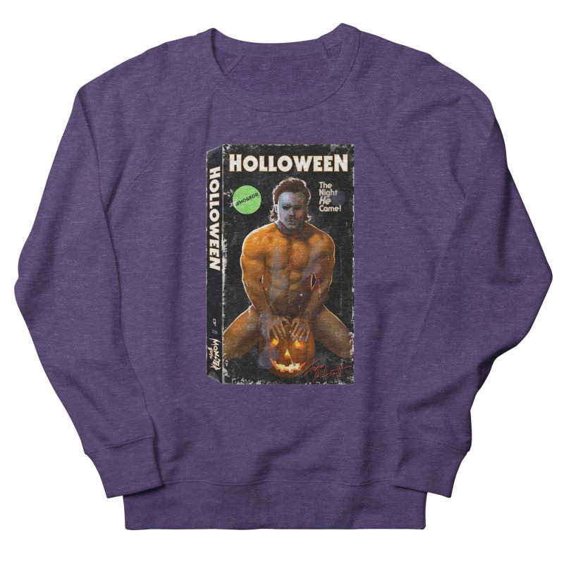 HOLLOWEEN VHS COVER Men's French Terry Sweatshirt by Stephen Draws's Artist Shop